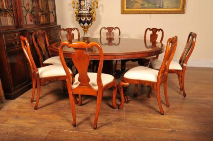 Dining Chairs Set Victorian Balloon Back Admiralty