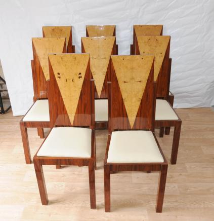 Rosewood Furniture 1920s Interiors Set Art Deco Dining Chairs
