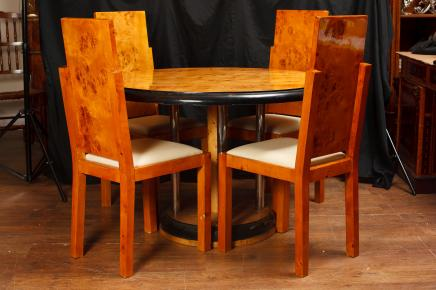Dining Table & Set Walnut George II Chairs Italian Marquetry