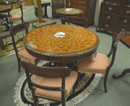 Table Diner 2 Leaf Walnut Regency Extending Pedestal